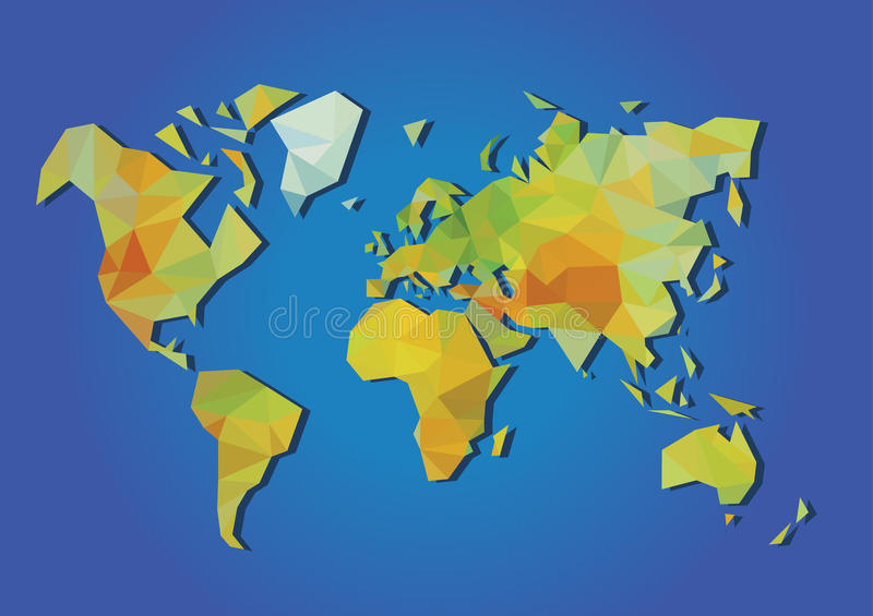 World map physical polygonal stock vector illustration of graphic download world map physical polygonal stock vector illustration of graphic modern 51984203 gumiabroncs Gallery