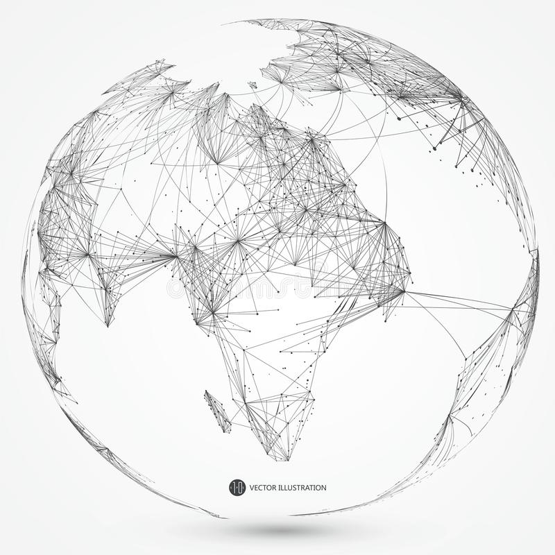 Global network connection,international meaning. stock photo