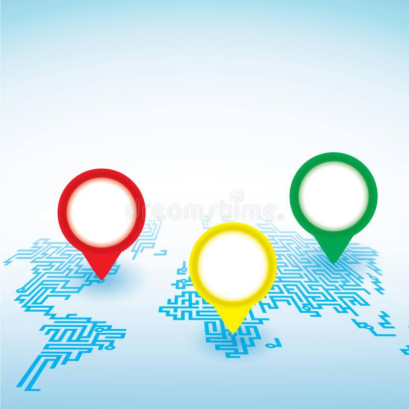 World map with pointer marks background stock illustration download world map with pointer marks background stock illustration illustration of color continent gumiabroncs