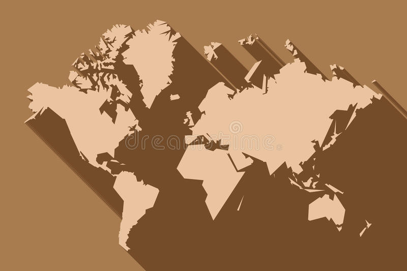 World map polygon flat design with long shadow illustration download world map polygon flat design with long shadow illustration stock vector illustration gumiabroncs Gallery