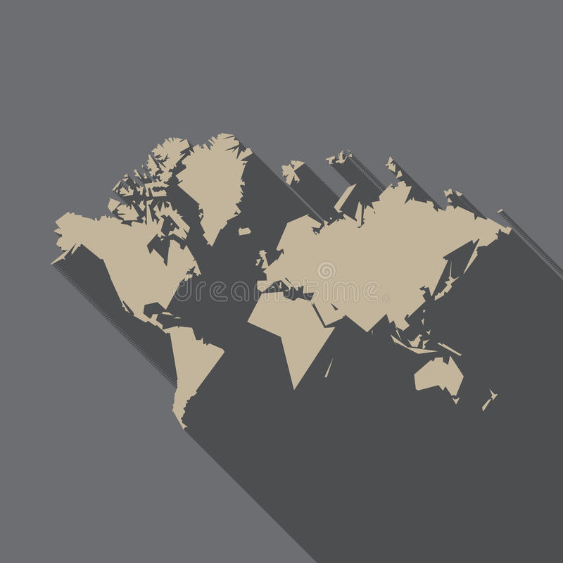 World map polygon flat design with long shadow illustration stock download world map polygon flat design with long shadow illustration stock vector illustration gumiabroncs Image collections