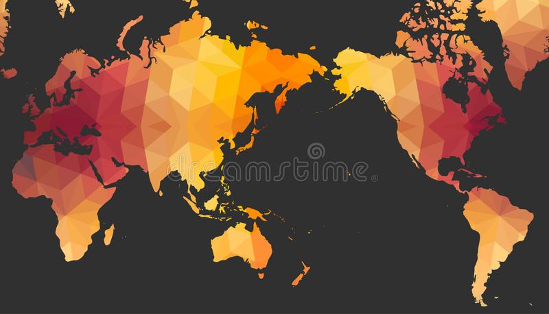 World Map of Polygonal Style vector illustration