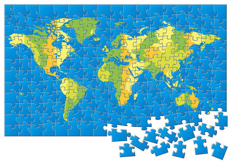 World map puzzle stock vector illustration of africa 24188320 world map puzzle gumiabroncs Choice Image
