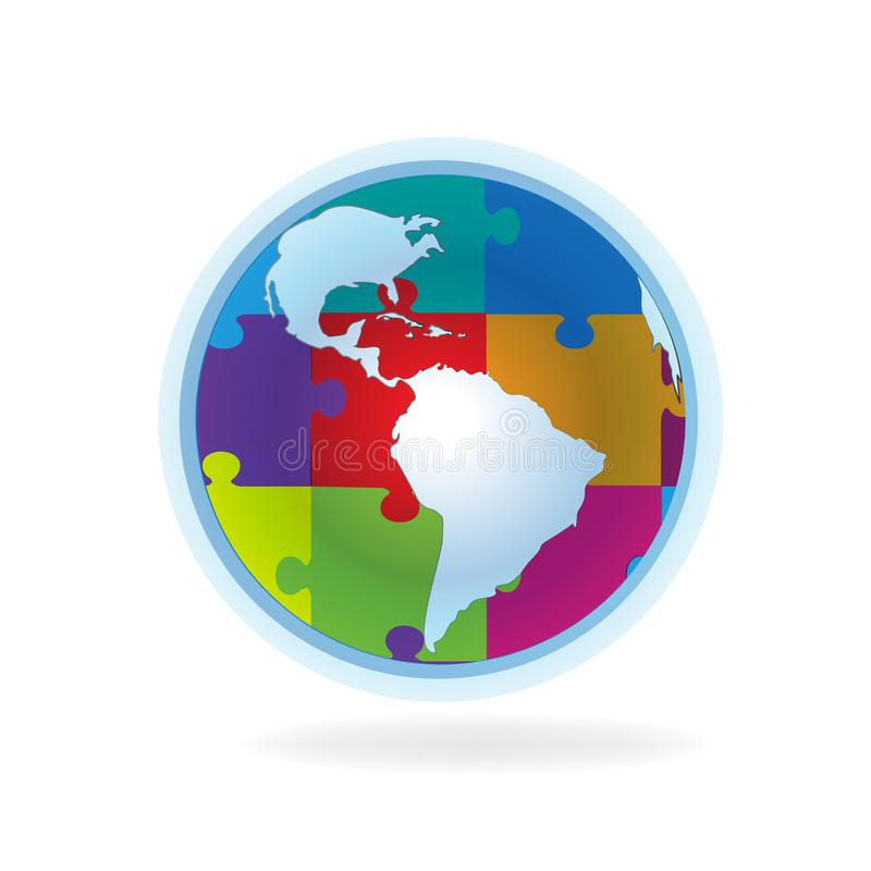 World map puzzle business connections logo stock vector download world map puzzle business connections logo stock vector illustration of good geography gumiabroncs Images