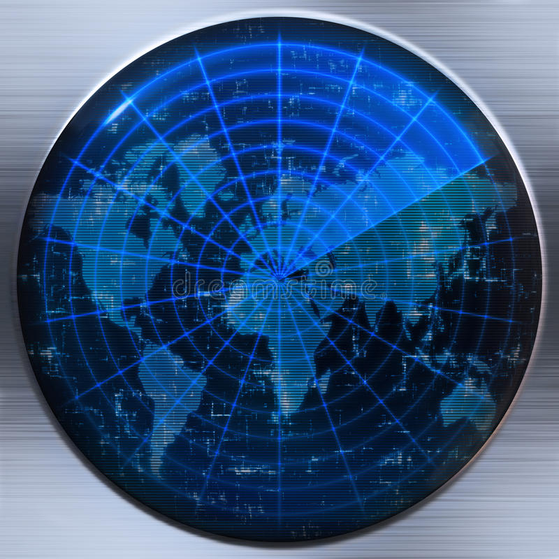 Free World Map Radar Or Sonar Stock Photo - 9786260