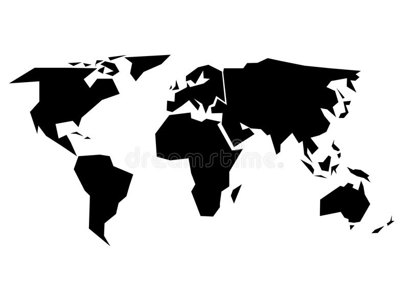 World map silhouette simplified black vector shape stock vector download world map silhouette simplified black vector shape stock vector illustration of isolated gumiabroncs Choice Image