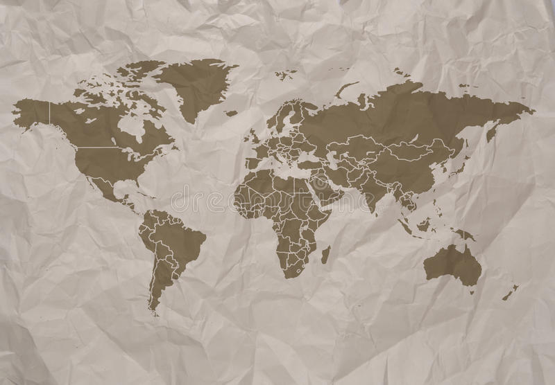 World map stock illustration illustration of activity 71329457 world simple map on old paper background clip path included gumiabroncs Gallery