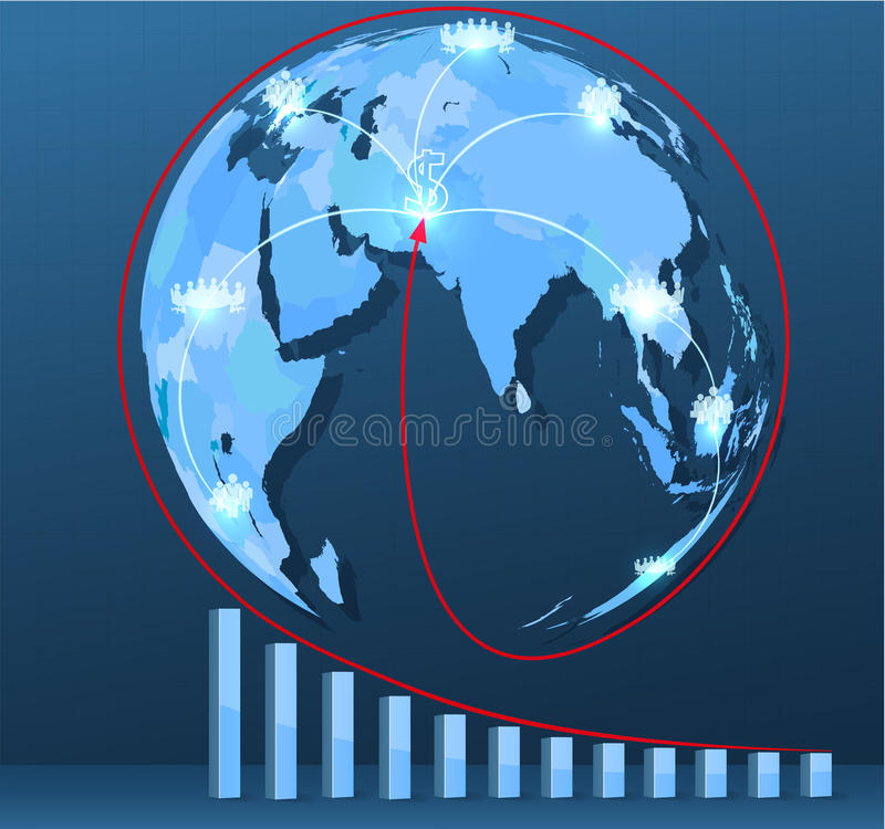 Download World Map With Social Network Connections Royalty Free Stock Photos - Image: 34589608