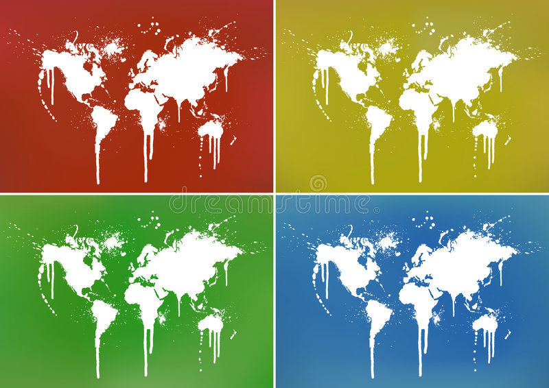 Download World Map Splatter Backgrounds Stock Vector - Illustration: 4105375