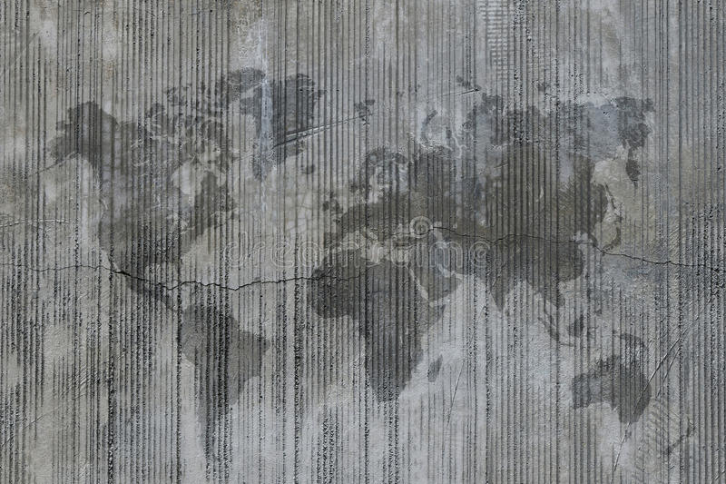 World map stain on grunge cement concrete wall stock photo image download world map stain on grunge cement concrete wall stock photo image of texture gumiabroncs Image collections