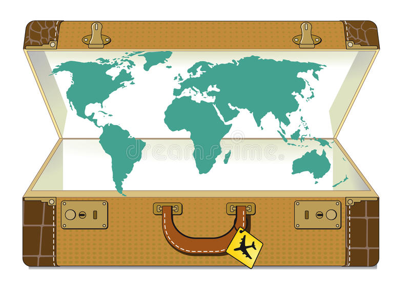 World map in suitcase stock vector illustration of vacation 30629085 download world map in suitcase stock vector illustration of vacation 30629085 gumiabroncs Image collections