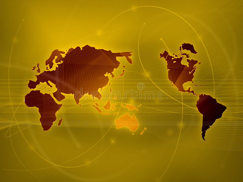 Download World map technology-style stock illustration. Image of cable - 6309180