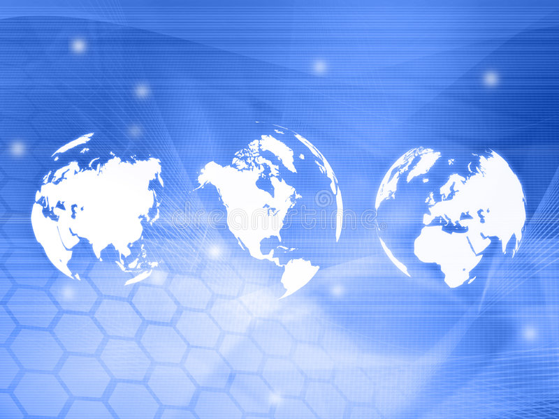 Download World Map Technology-style Royalty Free Stock Photos - Image: 7424368