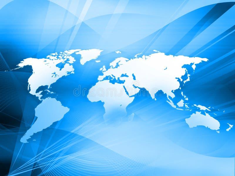 World map technology-style. (America,Europe,asia