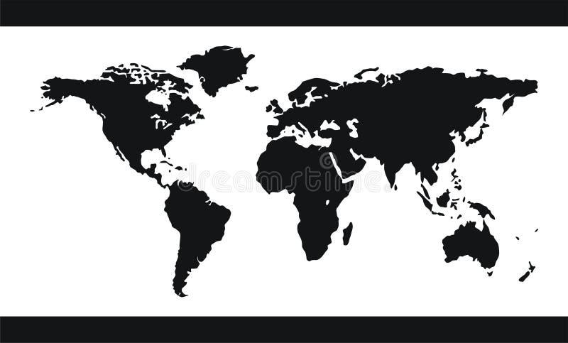 World map vector stock illustration