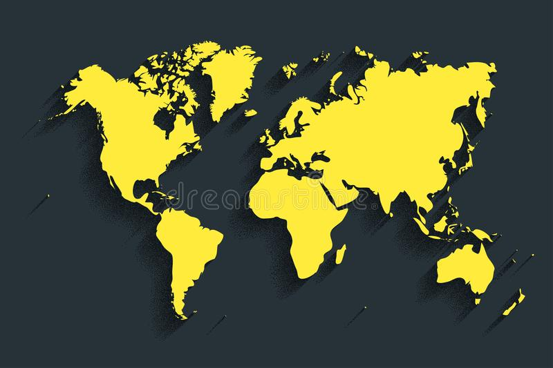 World map vector color background with shadow stock vector download world map vector color background with shadow stock vector illustration of background gumiabroncs Images