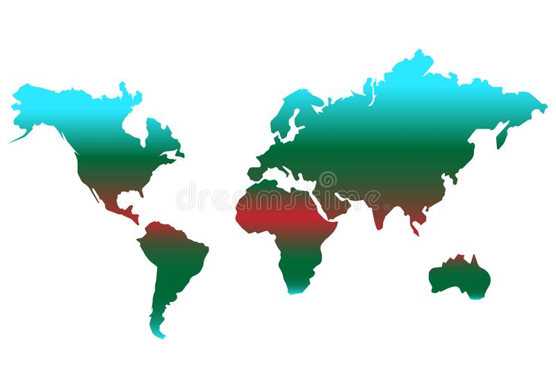 World map vector color icon. simple Flat design. World map vector color icon. Flat design eps10 royalty free illustration