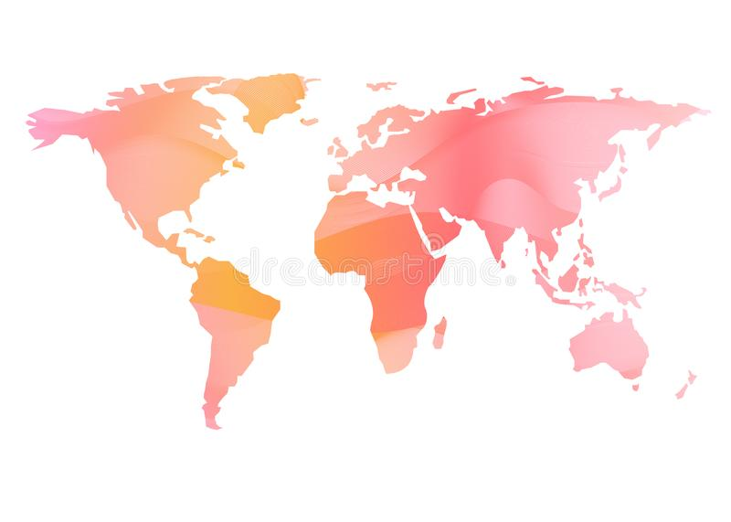 World map vector colorful blend effect white background vector illustration