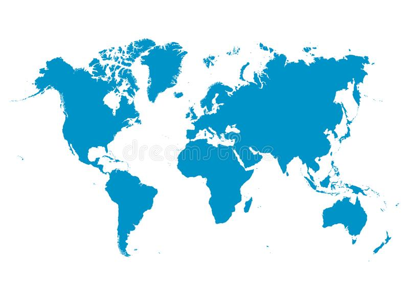 Blue 3D Earth / Globe Set. World Vector Collection With Flat ...