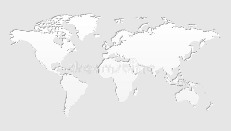 World Map Vector Illustration Design. Cut Out Vector royalty free illustration