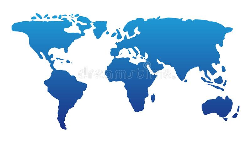 World Map Vector Illustration Design. Globe Earth Atlas Illustration vector illustration