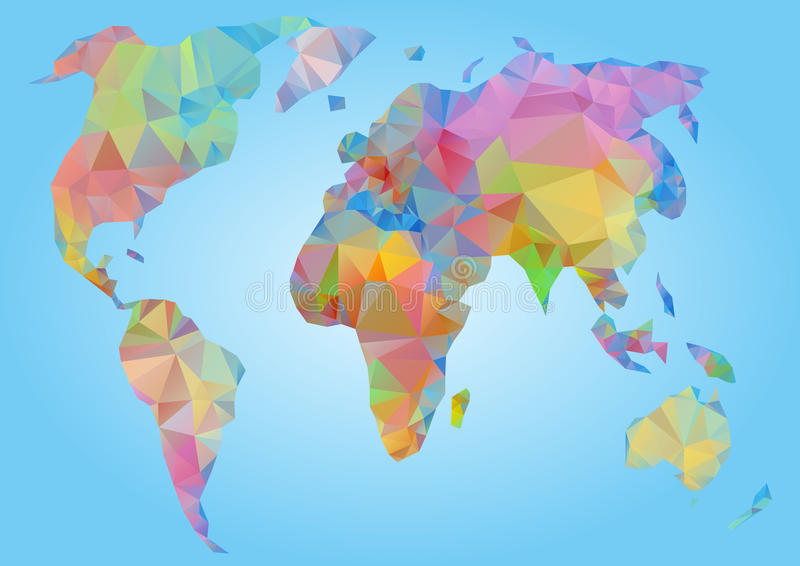 World map vector polygonal triangle geometric stock vector download world map vector polygonal triangle geometric stock vector illustration of globe blue gumiabroncs Gallery