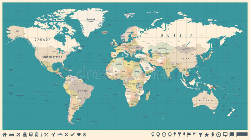 World map vector vintage detailed illustration of worldmap stock download world map vector vintage detailed illustration of worldmap stock illustration illustration of borders gumiabroncs Choice Image