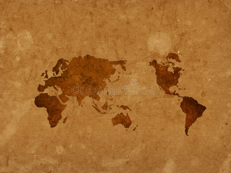 Download World Map Vintage Artwork Stock Photos - Image: 12699123