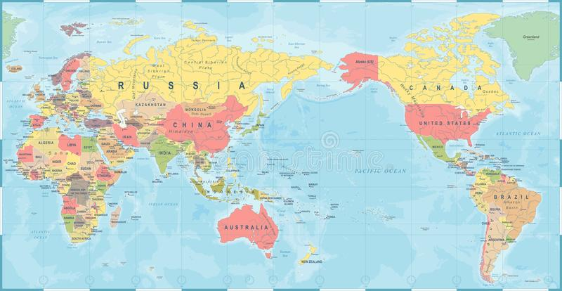 World map vintage old retro asia in center stock illustration download world map vintage old retro asia in center stock illustration illustration of country gumiabroncs Images