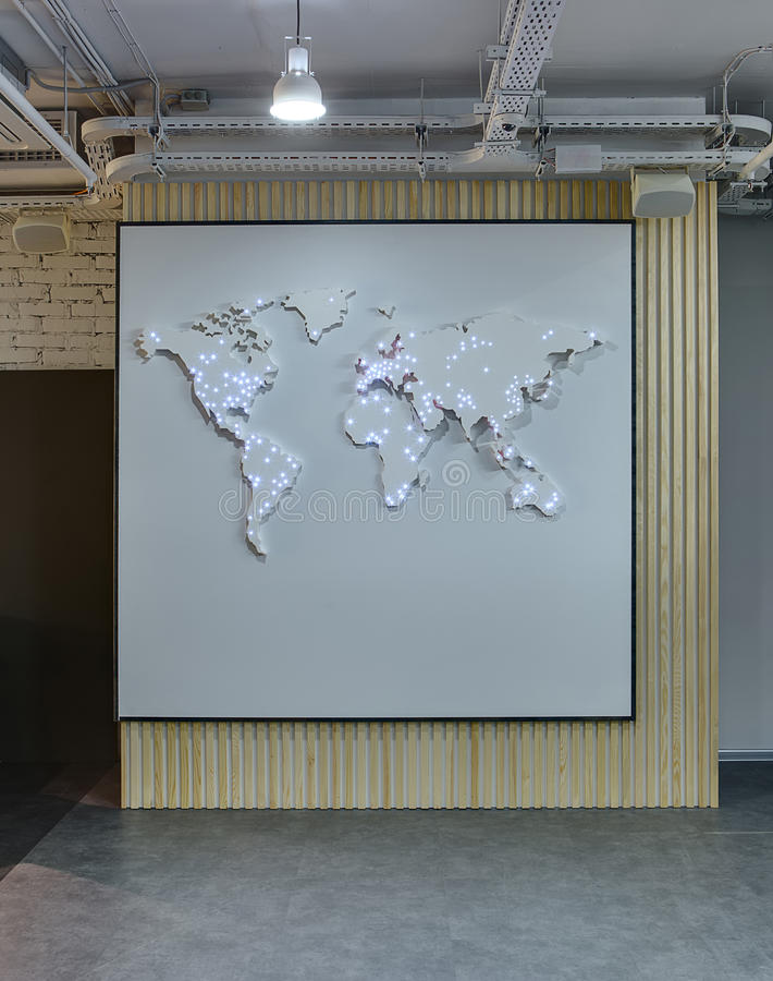 World map on the wall stock image image of loft business 68669071 download world map on the wall stock image image of loft business 68669071 gumiabroncs Gallery