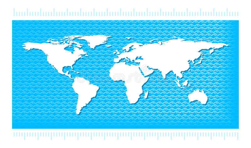 World map with water waves stock vector illustration of physical download world map with water waves stock vector illustration of physical 29482088 gumiabroncs Gallery