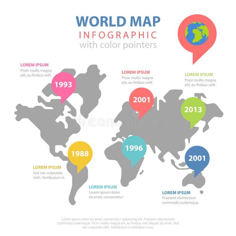 World map worldwide statistics historic year vector infographic download world map worldwide statistics historic year vector infographic stock vector illustration of creative gumiabroncs Gallery