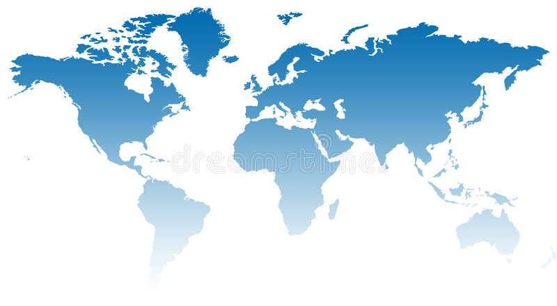 World Map XIII Stock Photography