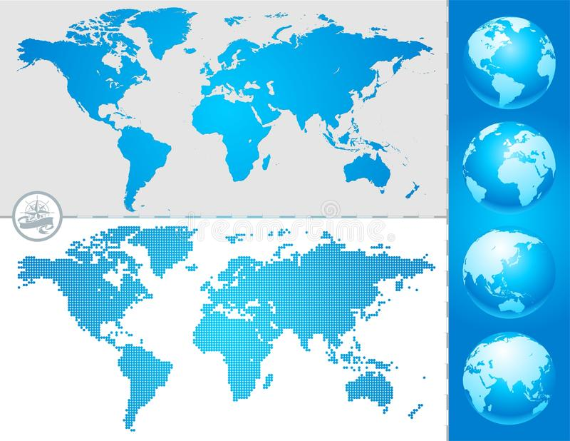 Download World maps and globe stock vector. Image of business - 13764867