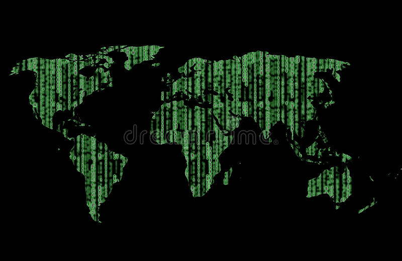 Download World is matrix stock illustration. Image of computer - 11499809