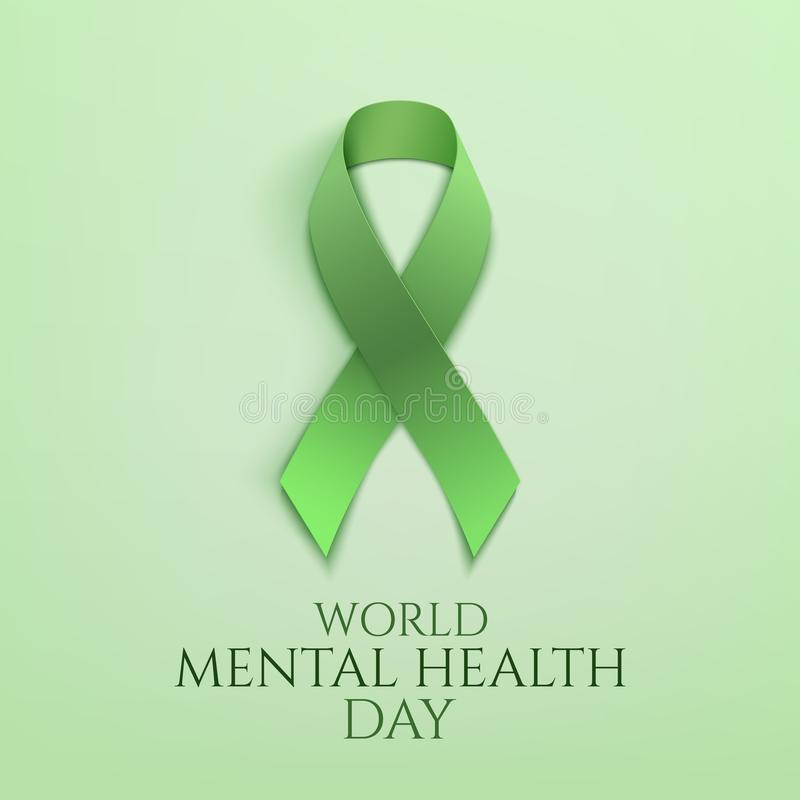 Download World Mental Health Day Background Stock Vector