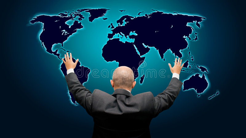 The world is mine - back version royalty free stock photo