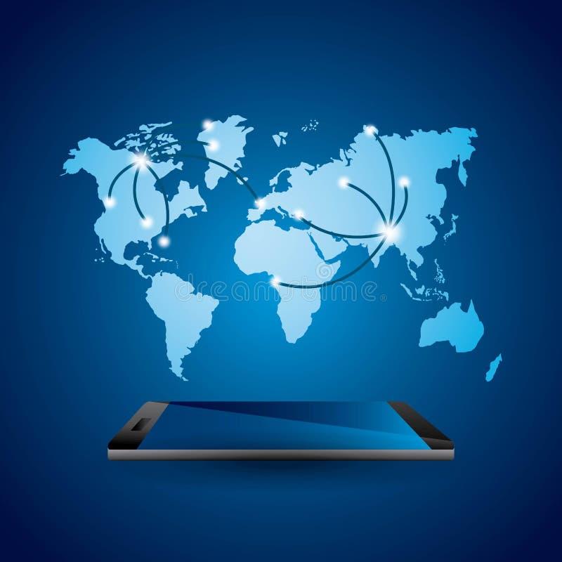 World mobile design stock illustration