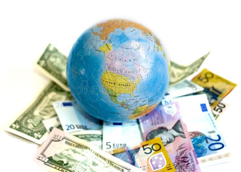 The World of Money. Euro, US Dollars, and AUS Dollars stock photos