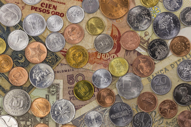 World Money Collection stock photo