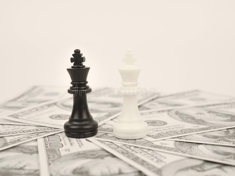 World money game by black winner chess king royalty free stock image