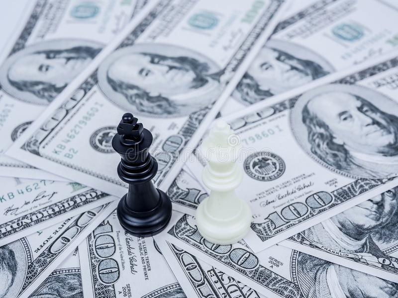 World money game by black winner chess king royalty free stock photos