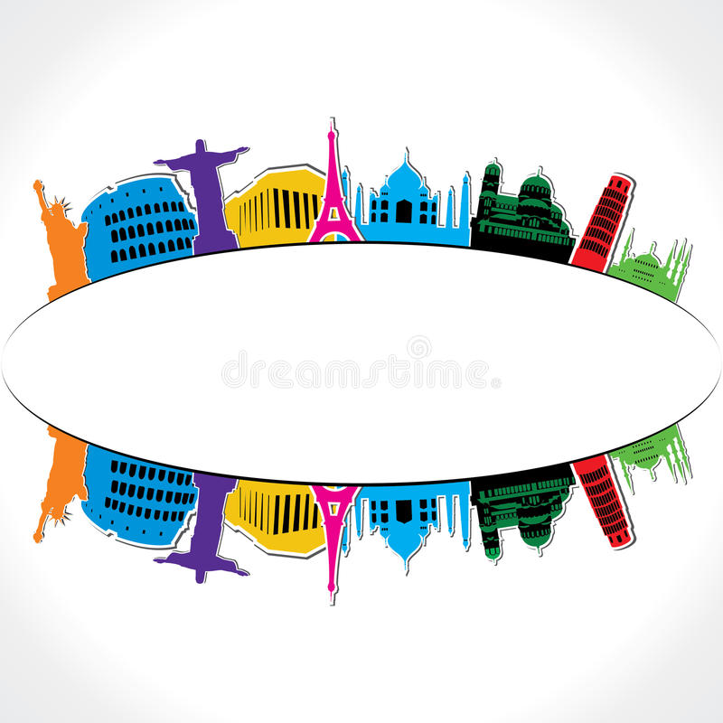 Download World monument stock vector. Image of famous, landmark - 29059407