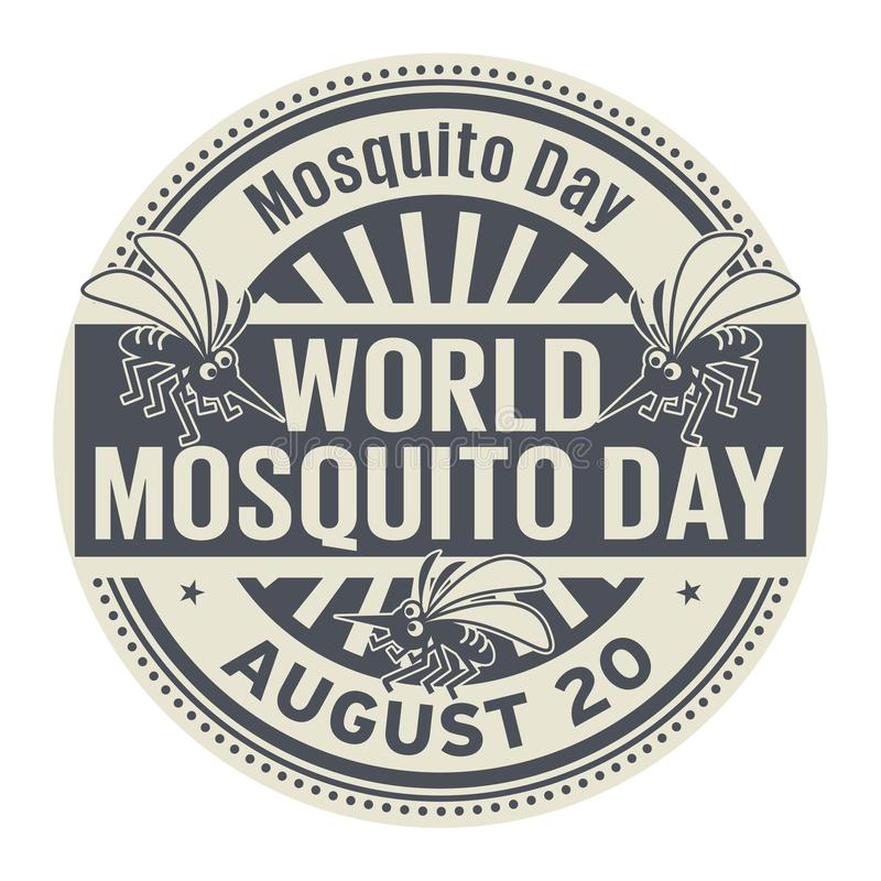 World Mosquito Day, abstract rubber stamp vector illustration