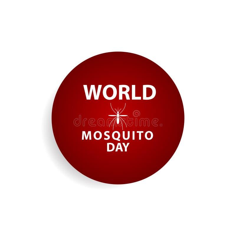 World Mosquito Day Celebration Vector Template Design Illustration. Malaria, insect, bite, stop, icon, background, virus, poster, care, medicine, protection stock illustration