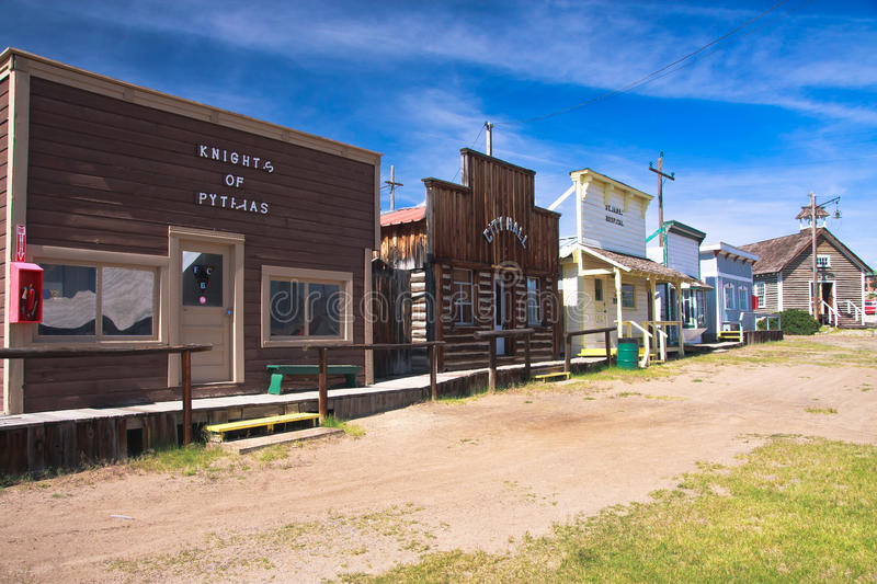 World Museum Of Mining. Street of an old town at The World Museum Of Mining, Butte, Montana stock photos