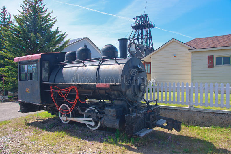 World Museum Of Mining. Old steam train at the World Museum Of Mining, Butte, Montana stock images