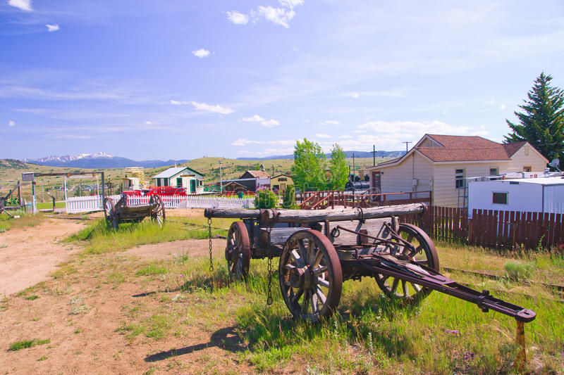 World Museum Of Mining. Old wagon at the World Museum Of Mining, Butte, Montana royalty free stock images
