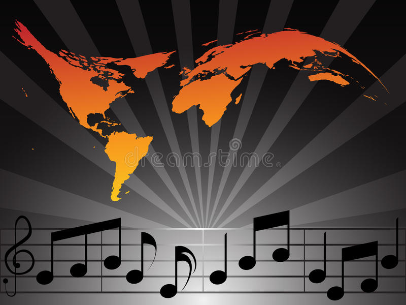 World Music vector illustration