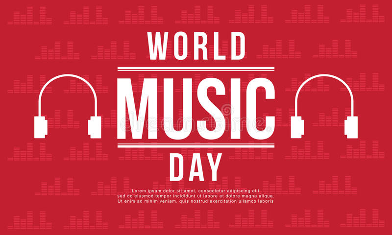 World music day banner style. Vector art